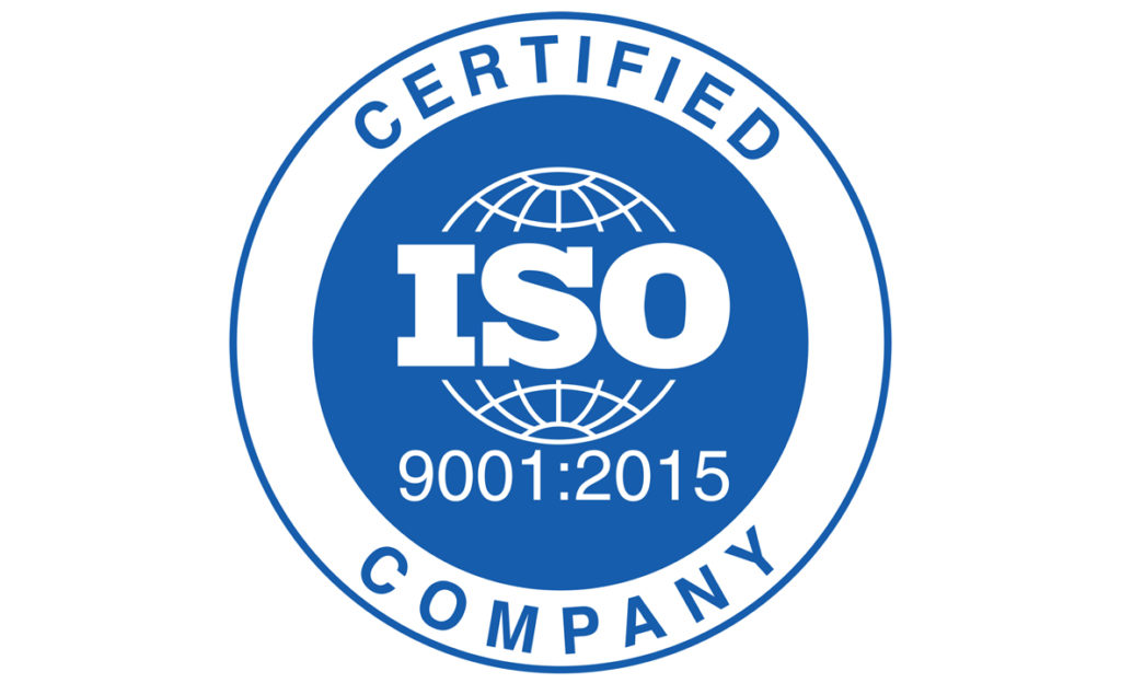ISO:9001 2015 accreditation