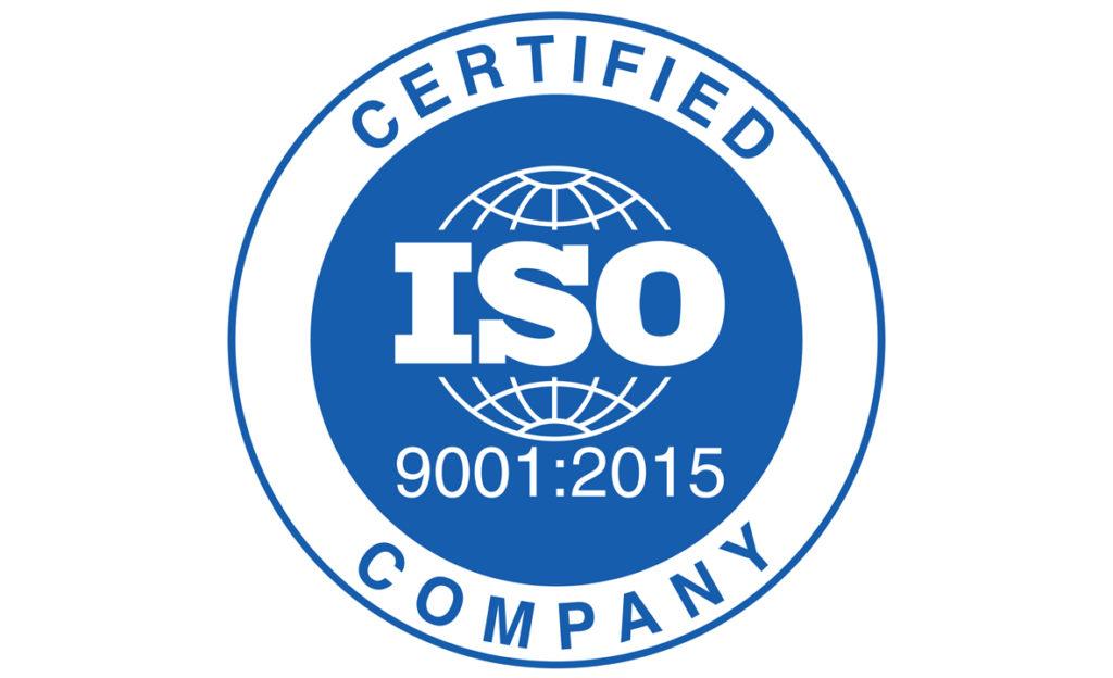 ISO:9001 2015 accreditation
